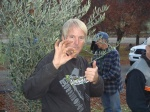 Cousin Mike giving the olives a thumbs-up